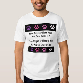 Camiseta del negocio del mascota playeras
