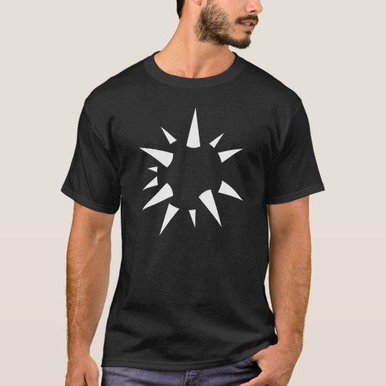 Camiseta del negro de la esfera de la ilusión
