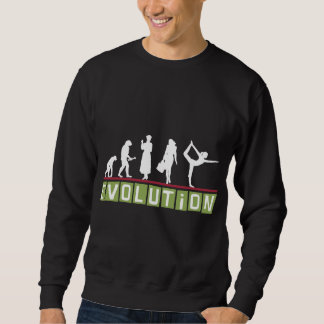 Camiseta del negro de la yoga de la evolución sudadera con capucha