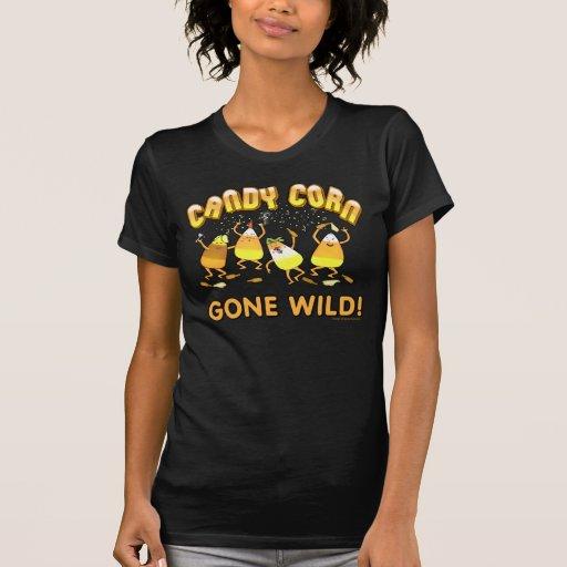 Camiseta del negro de las pastillas de caramelo de