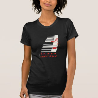 Camiseta del negro de ZAPATOS de DANCIN