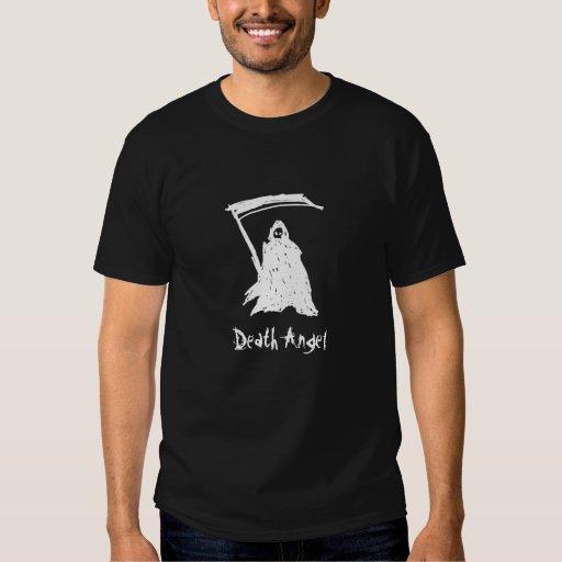 Camiseta del negro del ángel de muerte playera