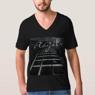Camiseta del negro del bajista