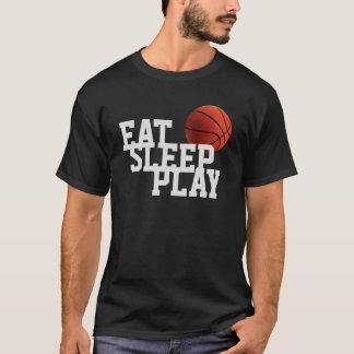 Camiseta del negro del baloncesto de Eat Sleep