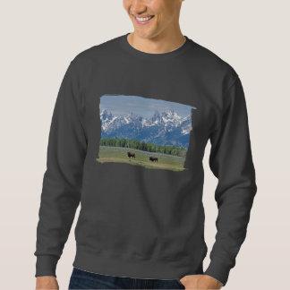 Camiseta del negro del búfalo de Teton Jersey