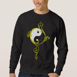 Camiseta del negro del diseño de Yin Yang