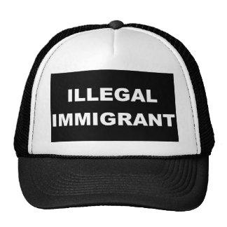 Camiseta del negro del inmigrante ilegal gorras de camionero