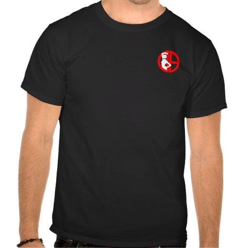 Camiseta del negro del logotipo de la sociedad de