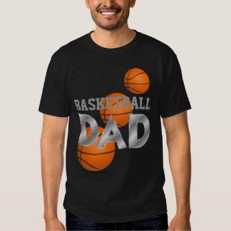 Camiseta del negro del PAPÁ del baloncesto Playera