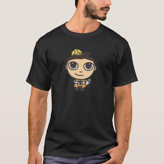Camiseta del negro del personaje de dibujos