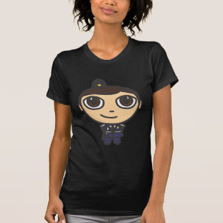 Camiseta del negro del policía del personaje de