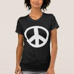 Camiseta del negro del símbolo de paz del signo de