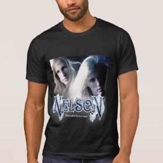 Camiseta del negro del vintage de NELSON - hombres Remeras