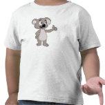 Camiseta del niño con el dibujo animado del oso de