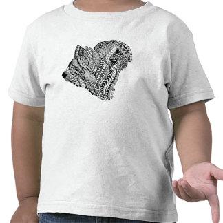 Camiseta del niño de Briard B/W del zen