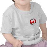 Camiseta del niño de Canadá del corazón