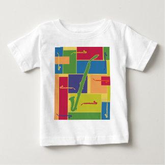 Camiseta del niño de Colorblocks Playeras