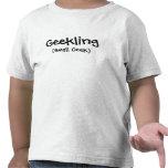 Camiseta del niño de Geekling (pequeño friki)