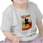 Camiseta del niño de Halloween del vintage