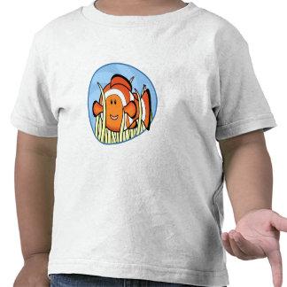 Camiseta del niño de Kawaii Clownfish