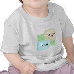 Camiseta del niño de Kawaii Mochi