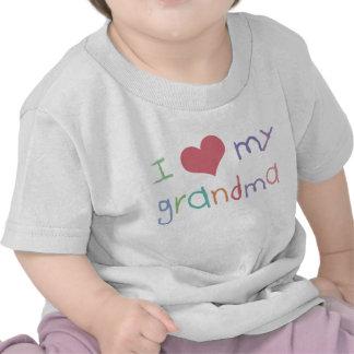 Camiseta del niño de la abuela del amor de los niñ