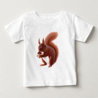 Camiseta del niño de la ardilla roja remera