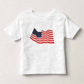 Camiseta del niño de la bandera americana