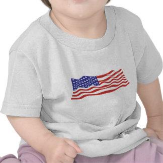 Camiseta del niño de la bandera de los E.E.U.U.