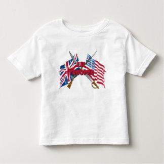Camiseta del niño de la bandera del soldado de