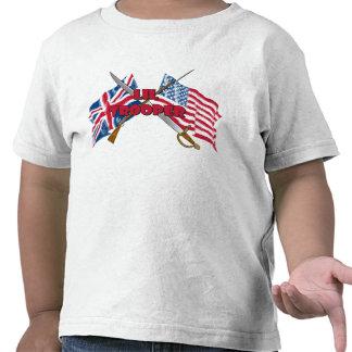 Camiseta del niño de la bandera del soldado de cab