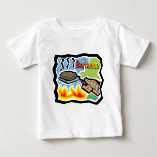 Camiseta del niño de la barbacoa playeras