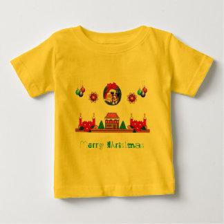 Camiseta del niño de la capa del navidad playera