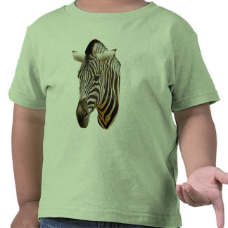 Camiseta del niño de la cebra
