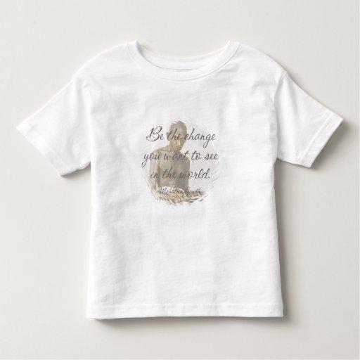 Camiseta del niño de la cita de Mahatma Gandhi Remeras