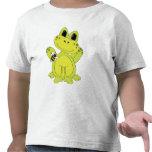 Camiseta del niño de la diversión de la rana del d