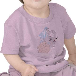 Camiseta del niño de la ducha del elefante