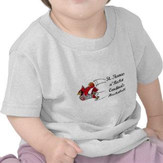 Camiseta del niño de la escritura del baloncesto