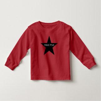 Camiseta del niño de la estrella del rock playeras