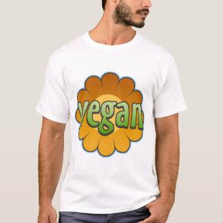 Camiseta del niño de la flor del vegano