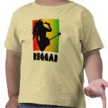 Camiseta del niño de la guitarra de Rasta Rastaman