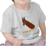 Camiseta del niño de la jirafa