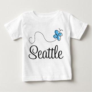 Camiseta del niño de la mariposa de Seattle WA Poleras