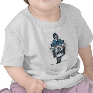 Camiseta del niño de la motocicleta de la policía