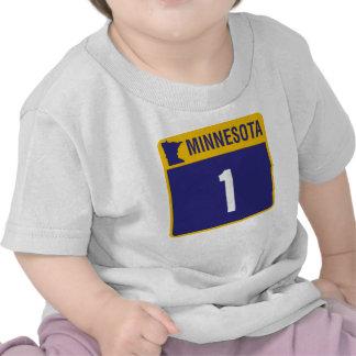 Camiseta del niño de la muestra de la carretera 1