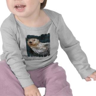 Camiseta del niño de la nutria de mar