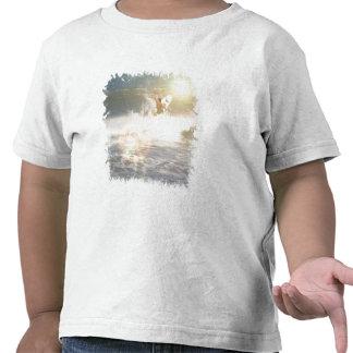 Camiseta del niño de la persona que practica surf