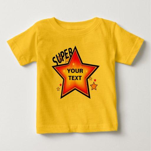 Camiseta del niño de la plantilla de la estrella
