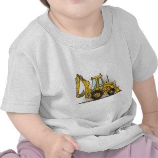 Camiseta del niño de la retroexcavadora