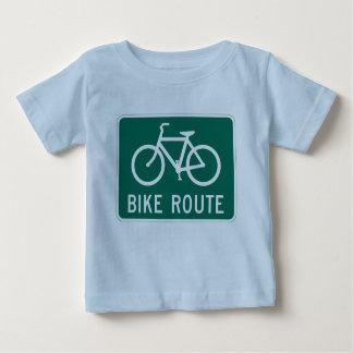 Camiseta del niño de la ruta de la bicicleta